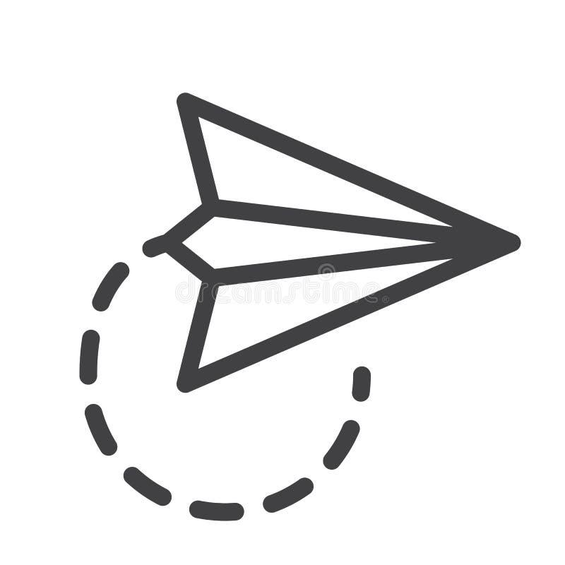 Linha plana de papel ícone ilustração stock