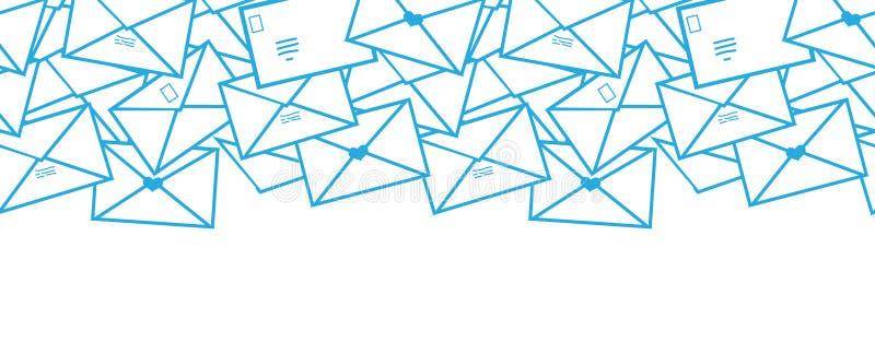 Linha postal arte dos envelopes das letras horizontal ilustração stock