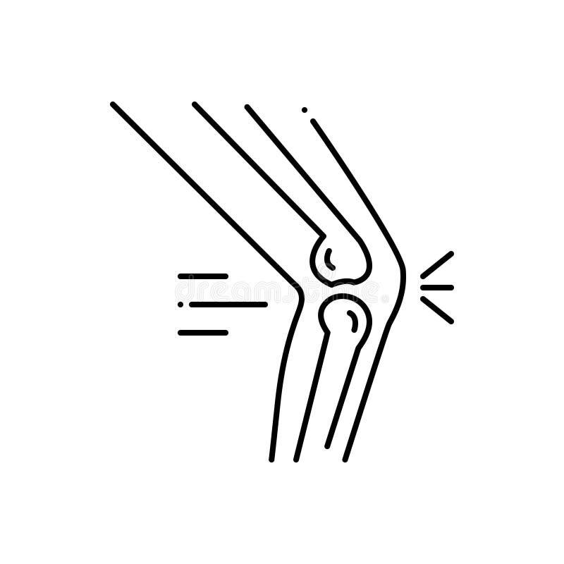 Linha preta ícone para a cirurgia ortopédica, os ossos e o médico ilustração stock