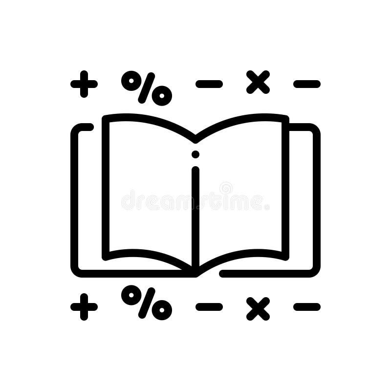 Linha preta ícone para a contabilidade, o jornal e a contabilidade ilustração royalty free