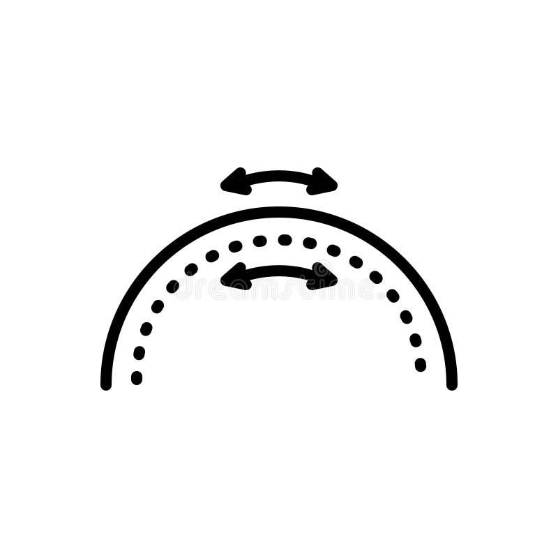 Linha preta ?cone para a elasticidade, a flexibilidade e a ductilidade ilustração stock