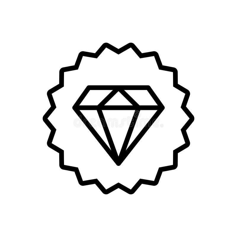Linha preta ?cone para a qualidade superior, a casa de penhores e o ornamento ilustração do vetor