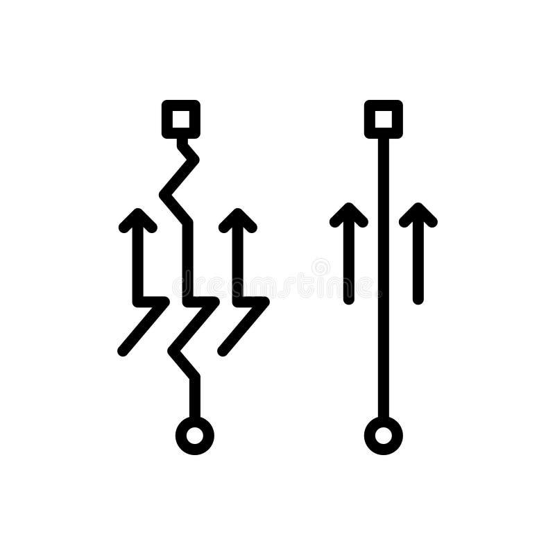 Linha preta ícone para simples, fácil e acessível ilustração royalty free