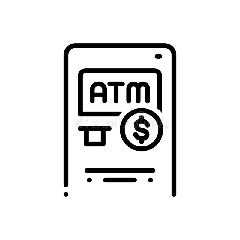 Linha preta ícone para vantagens, benefícios e lucro ilustração royalty free