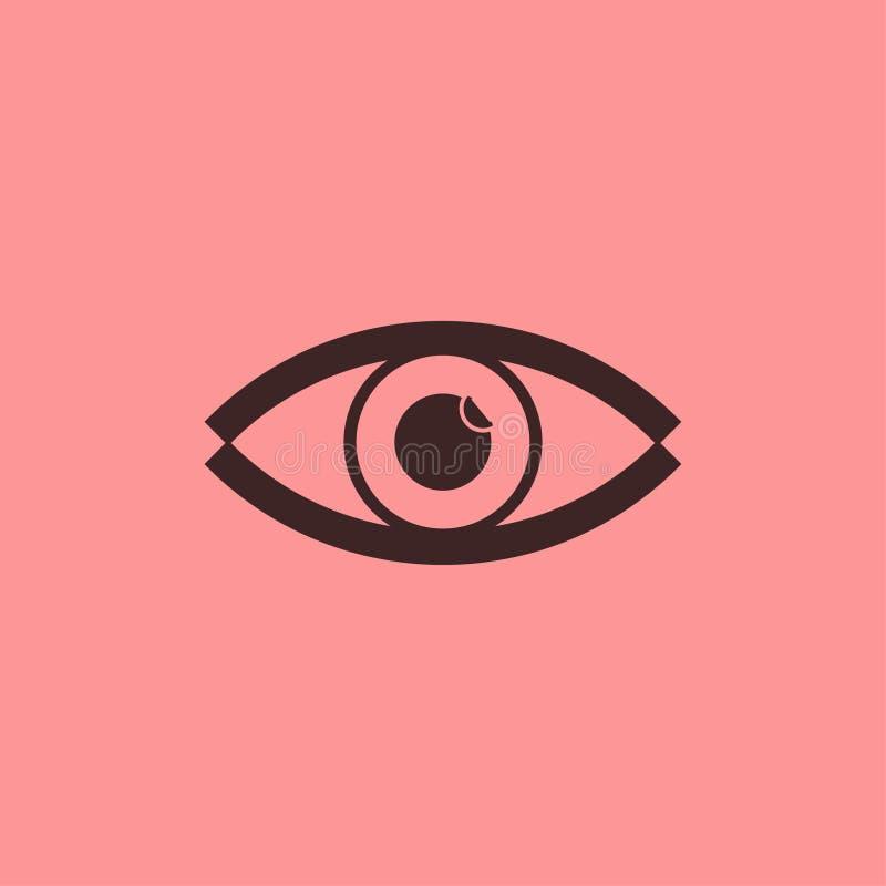 Linha preta abstrata vetor do olho do ícone imagem de stock