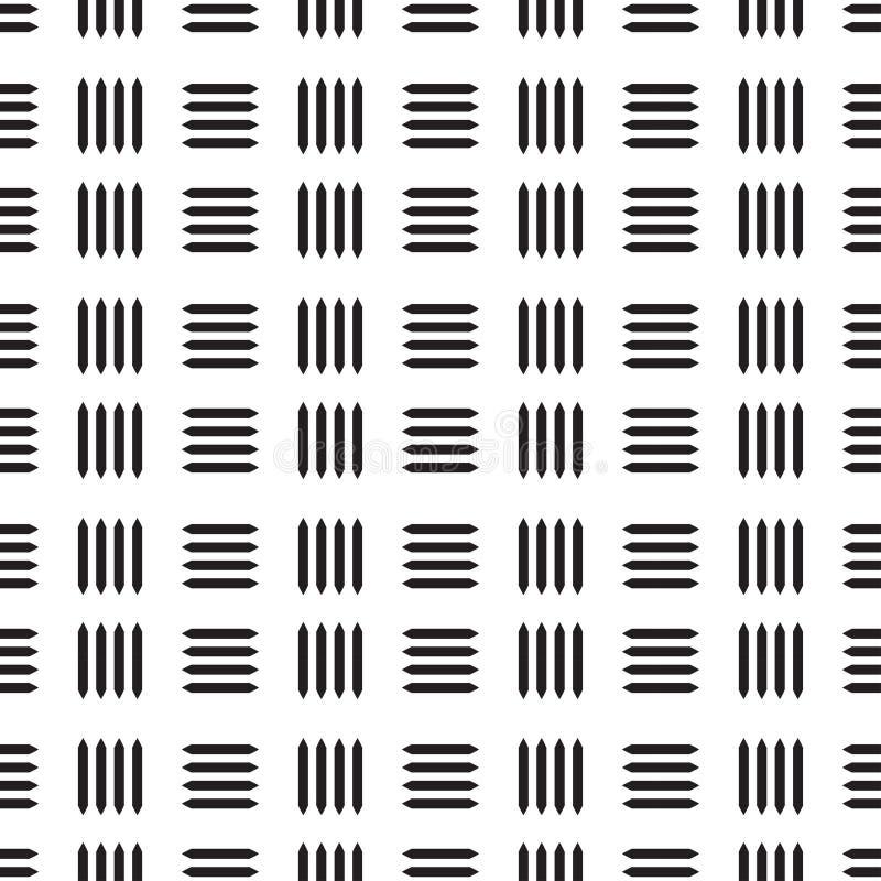 Linha preta sem emenda teste padrão do sumário com fundo branco ilustração do vetor