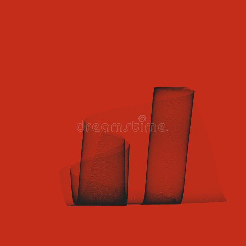 Linha preta teste padrão ilustração stock
