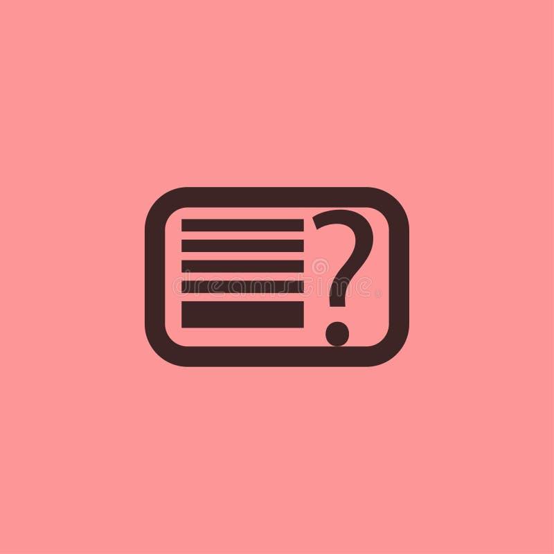 Linha preto do menu de ajuda do FAQ do ícone do vetor imagens de stock royalty free
