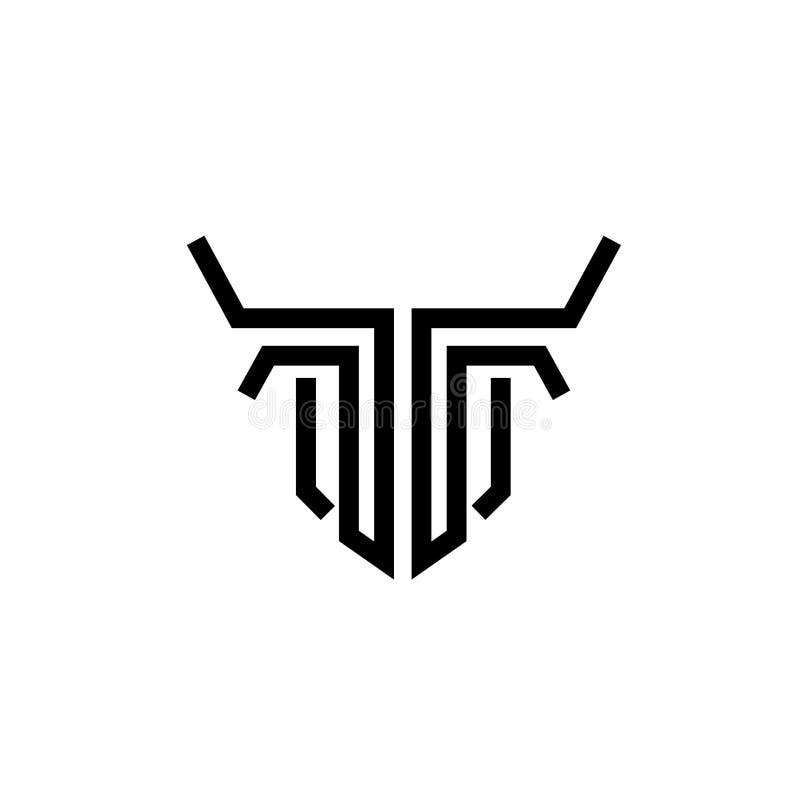 linha principal vetor do touro abstrato do logotipo ilustração royalty free