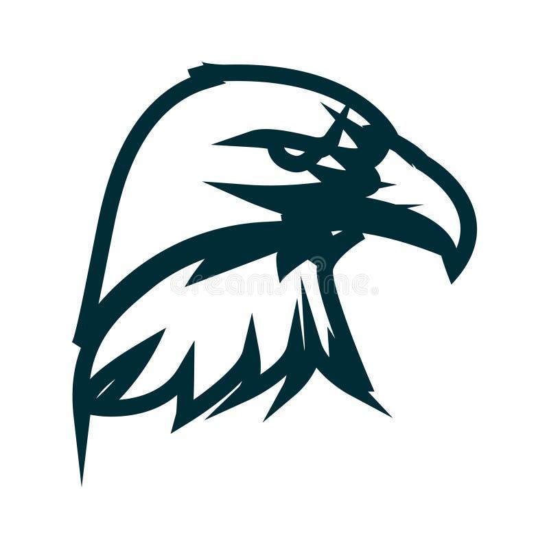 Linha projeto de Eagle do logotipo da arte Ilustra??o do vetor do esbo?o da cabe?a de Eagle Projeto minimalista do ícone da cabeç ilustração royalty free