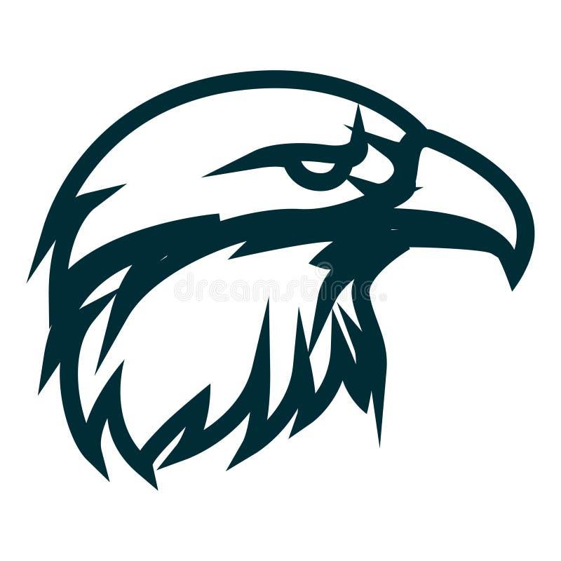 Linha projeto de Eagle do logotipo da arte Ilustra??o do vetor do esbo?o da cabe?a de Eagle Projeto minimalista do ícone da cabeç ilustração do vetor