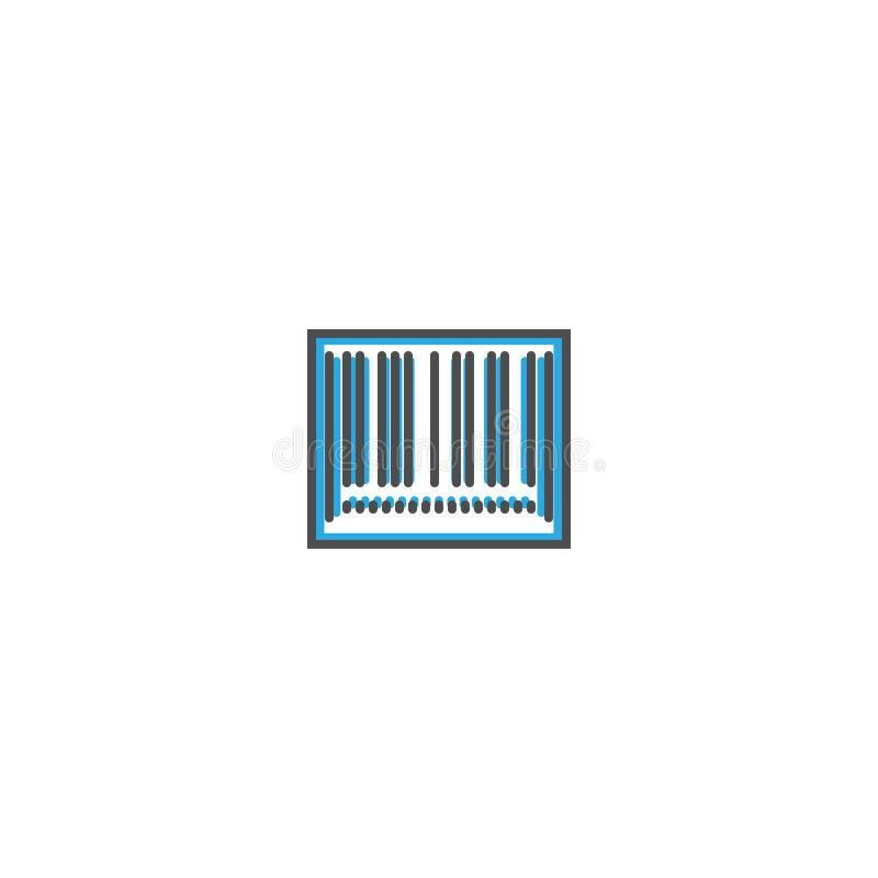 Linha projeto do ícone do código de barras Ilustração do vetor do ícone do negócio ilustração stock