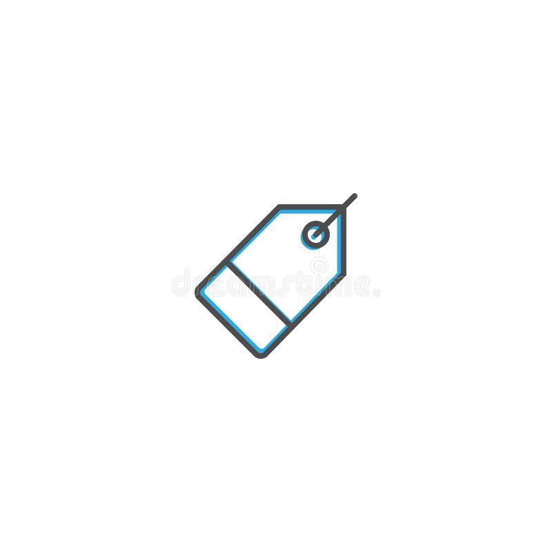 Linha projeto do ícone do preço Ilustração do vetor do ícone do negócio ilustração royalty free