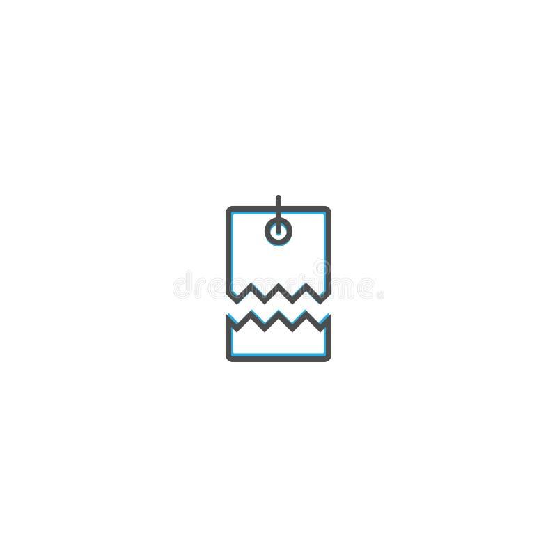 Linha projeto do ícone do preço Ilustração do vetor do ícone do negócio ilustração do vetor