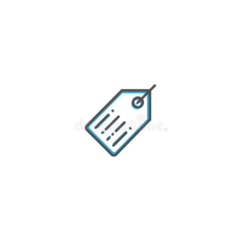 Linha projeto do ícone do preço Ilustração do vetor do ícone do negócio ilustração stock
