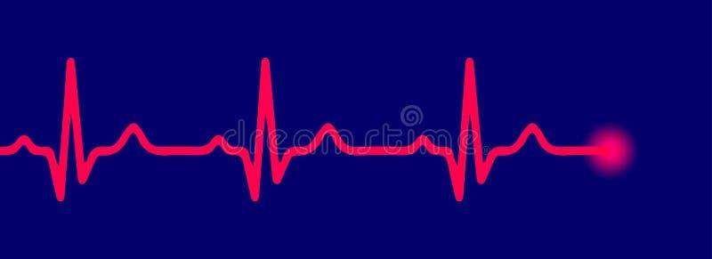 Linha pulso vermelho - ilustração do vetor