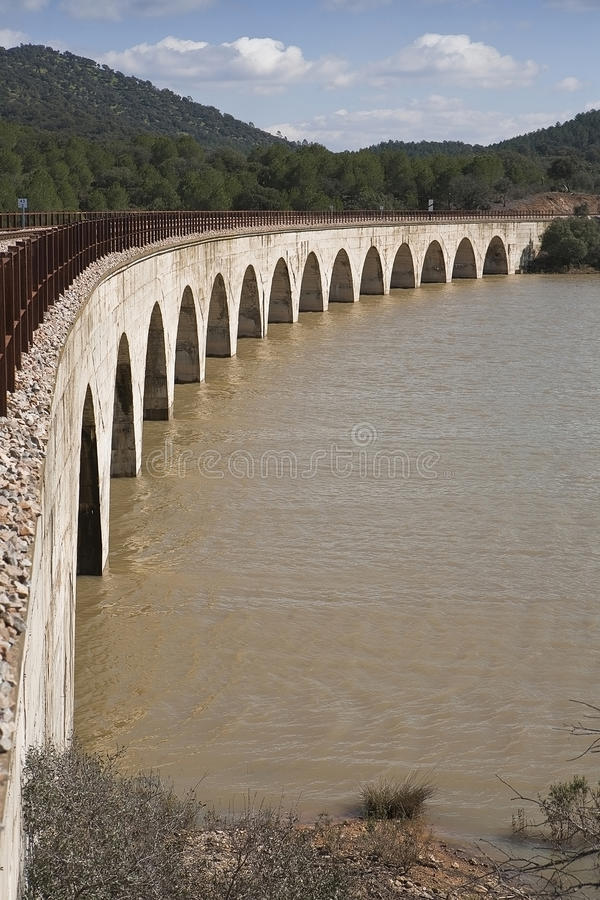Linha Railway Córdova - Almorchon imagens de stock royalty free