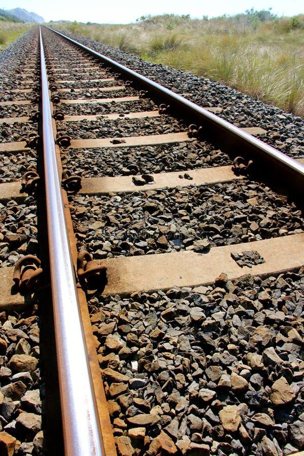 Linha Railway não um trem na vista fotos de stock