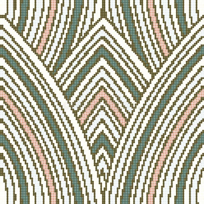 Linha retro sem emenda colorida de intervalo mínimo da repetição da curva do teste padrão ilustração royalty free