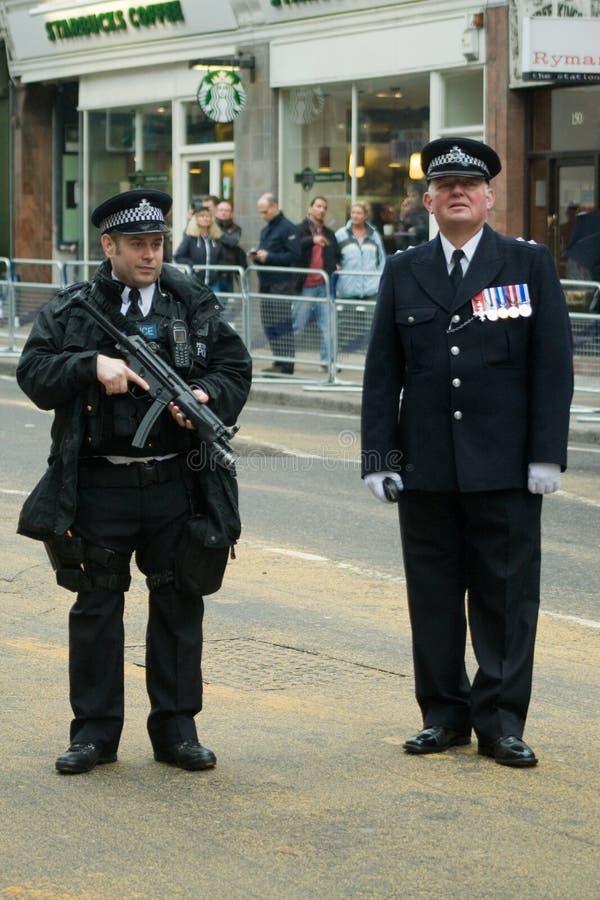 Linha rota fúnebre dos agentes da polícia foto de stock royalty free