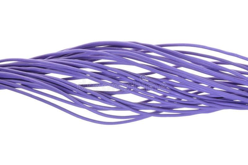 Linha roxa dos cabos fotos de stock royalty free