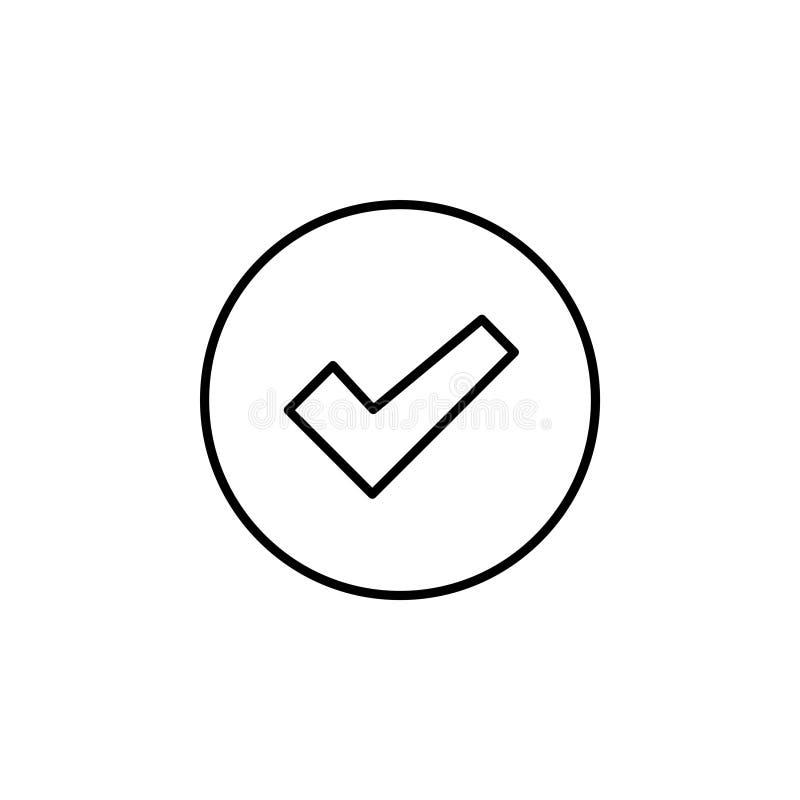 Linha símbolo da caixa de verificação do ícone ilustração stock