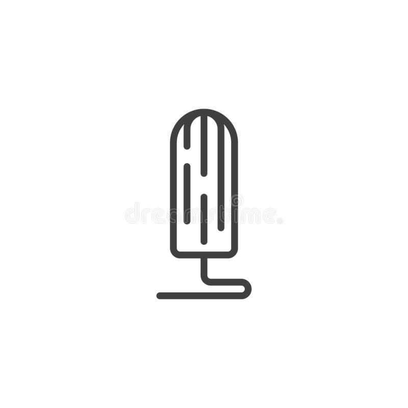 Linha sanitária ícone do tampão ilustração stock