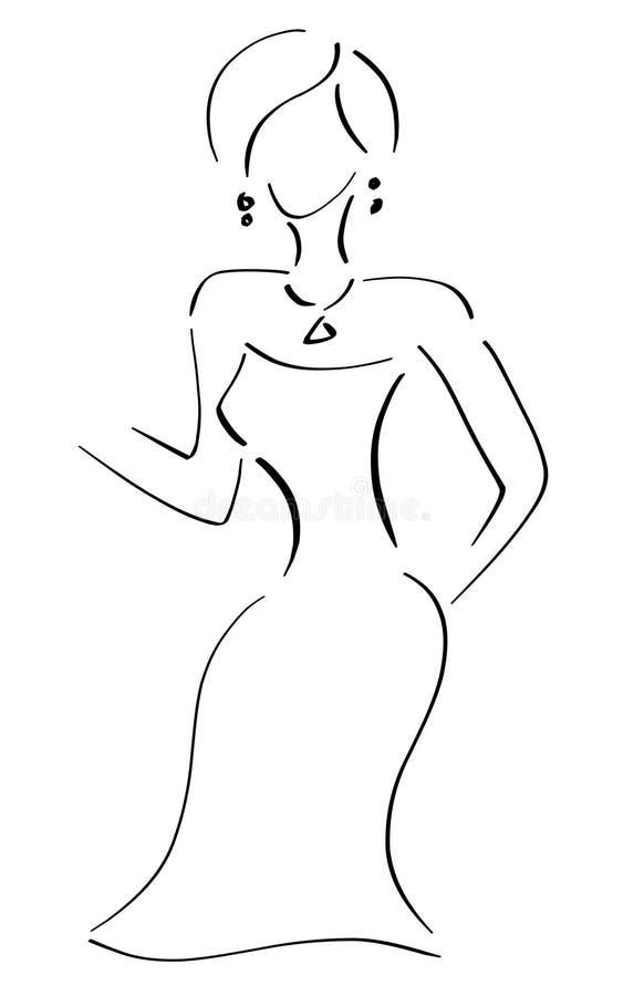 Linha senhora da arte ilustração royalty free