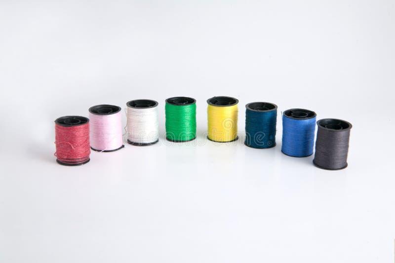 Linha Sewing colorida ilustração stock