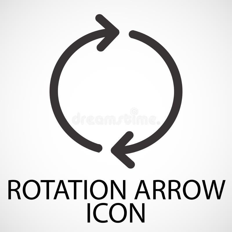 Linha simples ícone da seta da rotação da arte, vetor ilustração royalty free