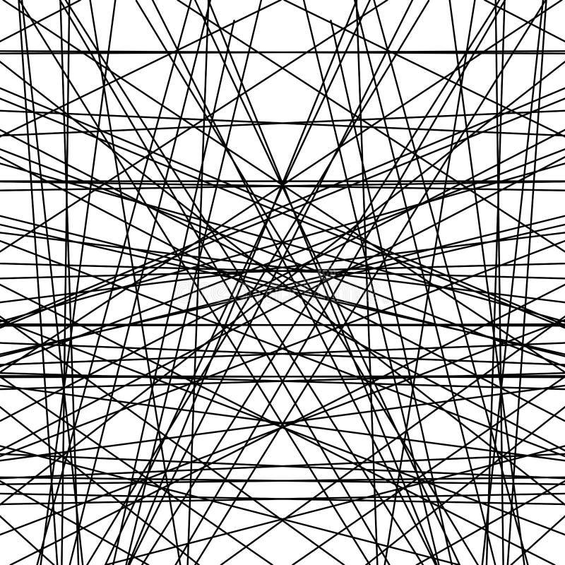 Linha teste padrão misturado do papel de parede do fundo do espaço preto branco especial ilustração do vetor