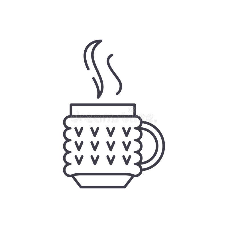 Linha Thermo conceito da caneca do ícone Ilustração linear do vetor Thermo da caneca, símbolo, sinal ilustração do vetor