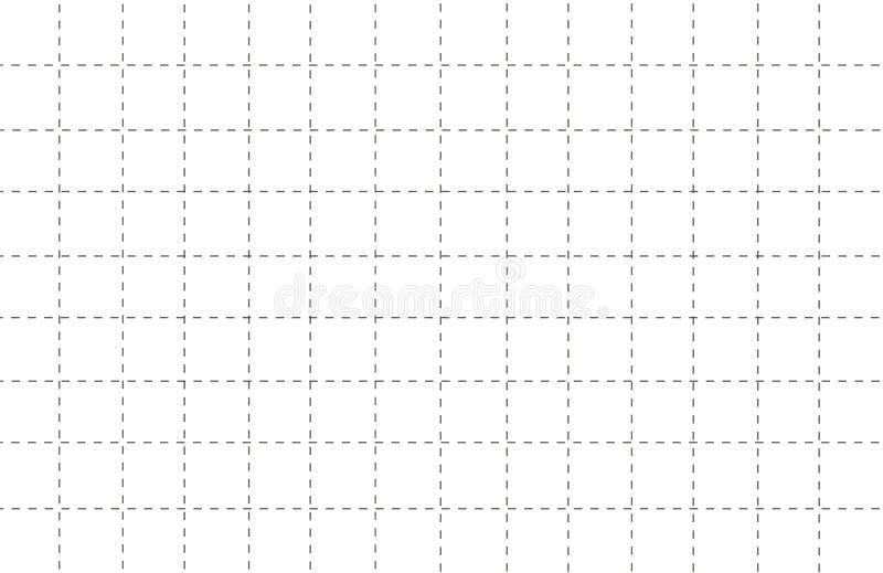 Linha tracejada papel da grade com ilustração branca eps10 do vetor do fundo do teste padrão ilustração royalty free