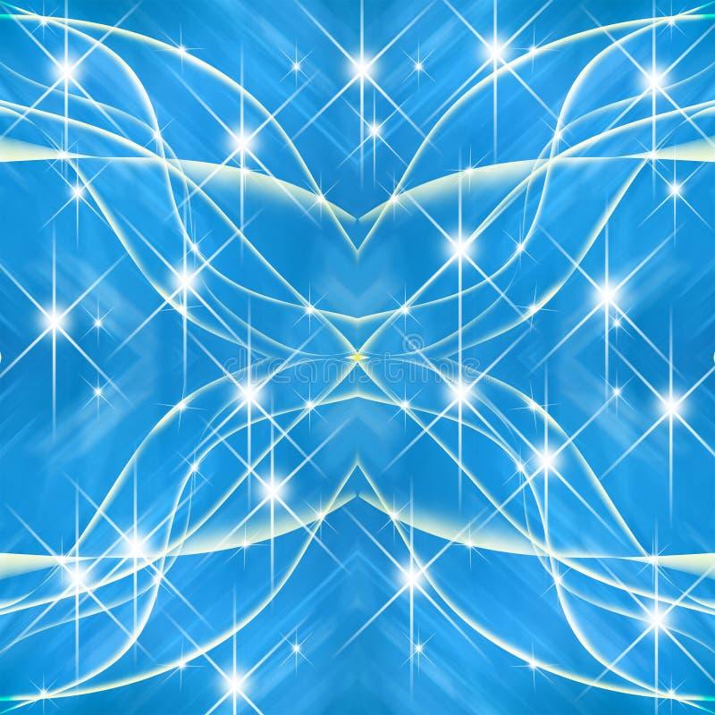Linha transversal fundo azul com estrela ilustração stock