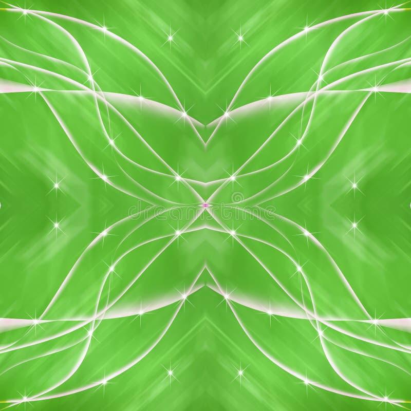 Linha transversal fundo do verde com estrela ilustração royalty free