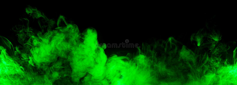 Linha verde abstrata do fumo foto de stock royalty free