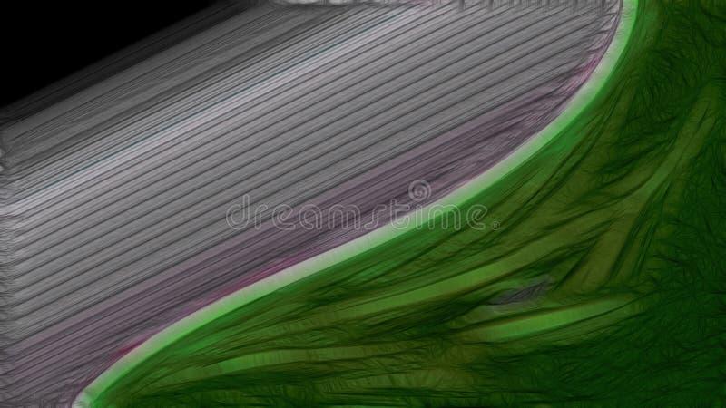 Linha verde fundo elegante bonito da folha do projeto da arte gráfica da ilustração do fundo ilustração do vetor