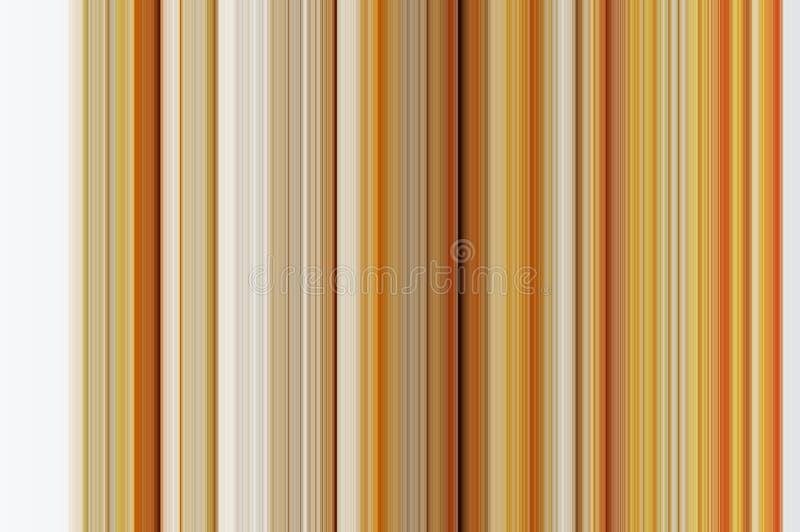 Linha vertical abstrata fundo da laranja, a marrom e a branca ilustração do vetor