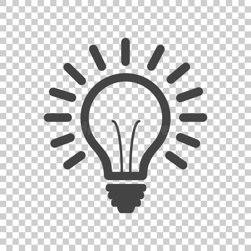 Linha vetor da ampola do ícone, isolado no fundo isolado ilustração royalty free