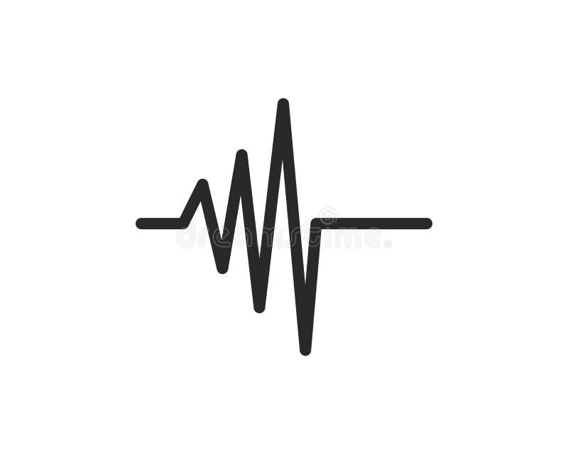 linha vetor do pulso ilustração stock