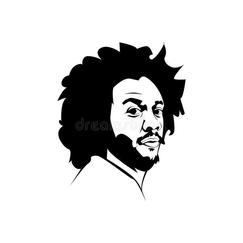 Linha vetor do vieira de Marcelo da arte ilustração royalty free