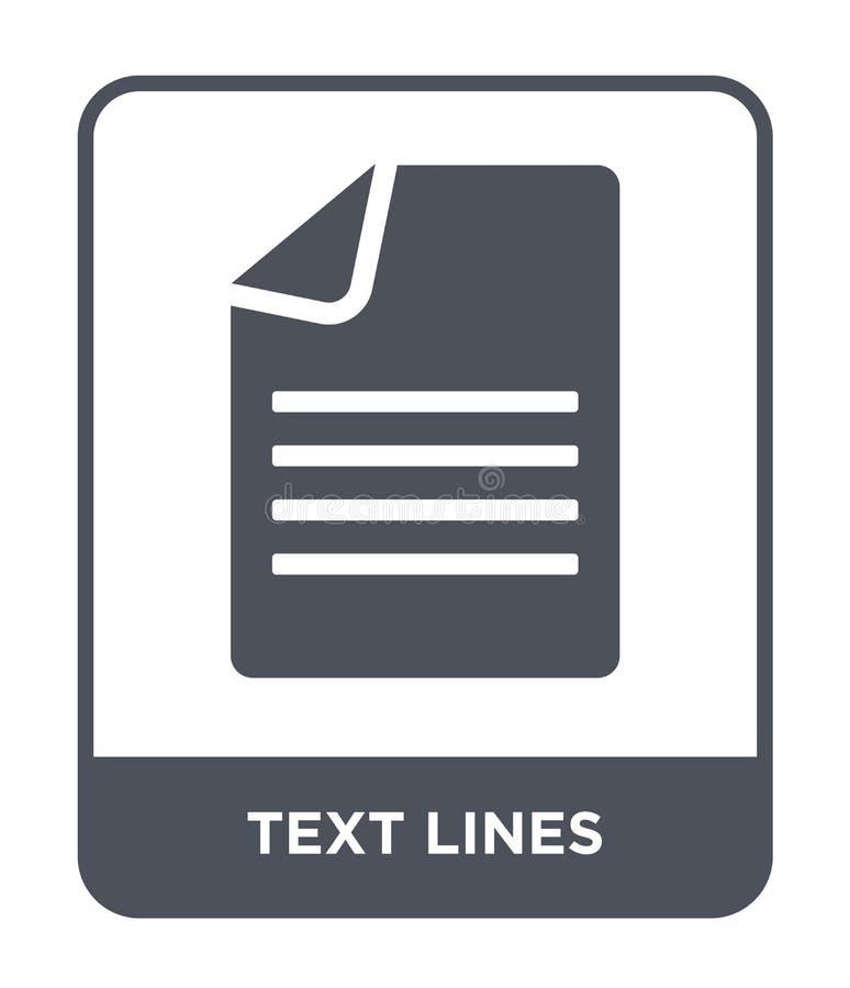 linhas ícone do texto no estilo na moda do projeto O texto alinha o ícone isolado no fundo branco linhas ícone do texto do vetor  ilustração stock