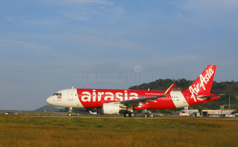 Linhas aéreas de AirAsia, Airbus A-320 fotos de stock royalty free