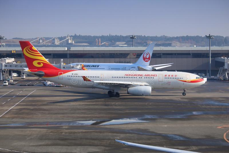 Linhas aéreas de Hong Kong fotos de stock royalty free