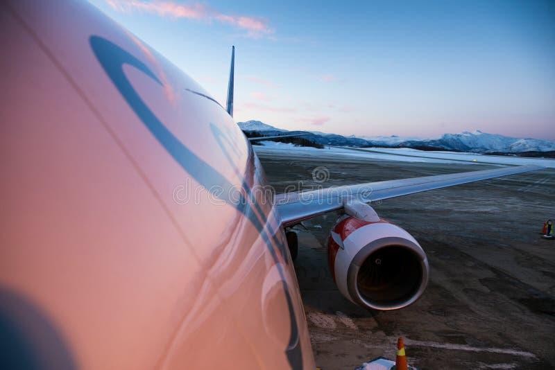 Linhas aéreas escandinavas imagem de stock