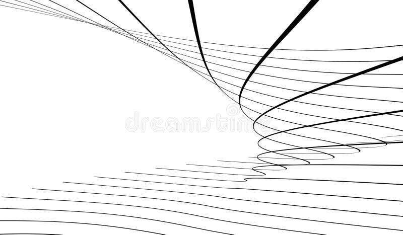 Linhas abstratas ilustração do vetor