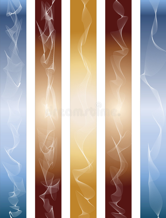 Linhas abstratas ilustração royalty free