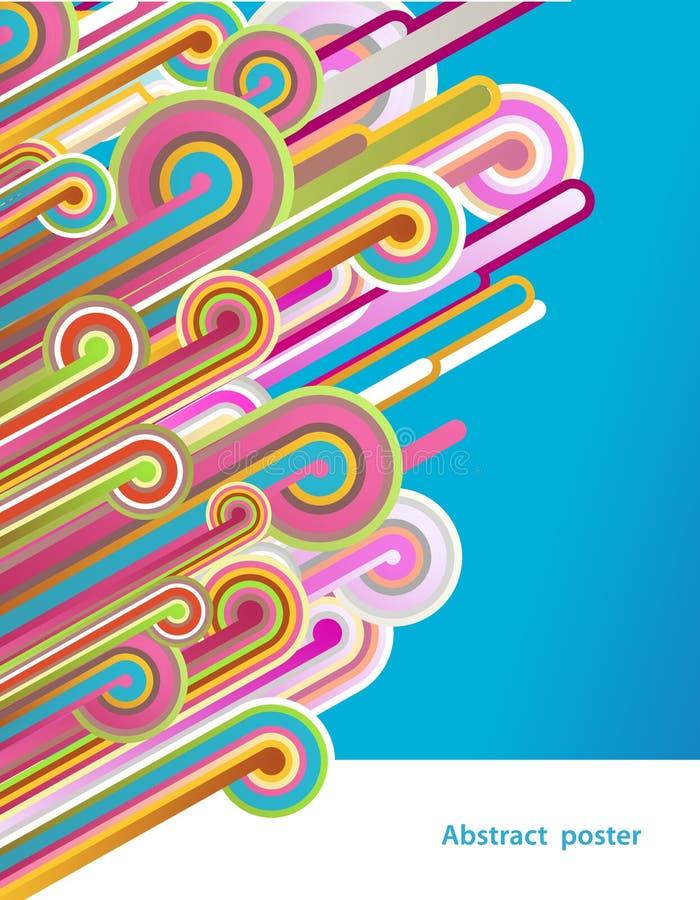Linhas abstratas com fundo azul. ilustração royalty free