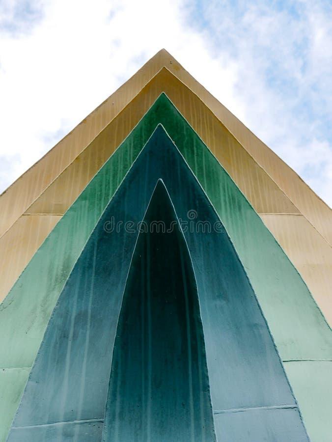 Linhas abstratas da arquitetura do fundo deta moderno da arquitetura imagens de stock