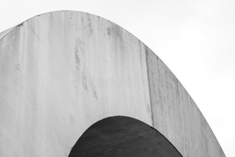 Linhas abstratas na arquitetura Detalhe moderno da arquitetura imagens de stock